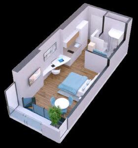 apartament 26 - 28 m2