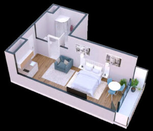 Apartment 36 sqm