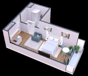 Apartament 36 m2