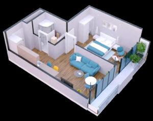 apartament 46-47m2