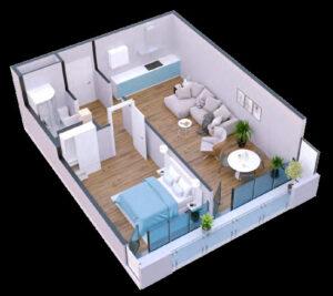 Apartament 56 m2