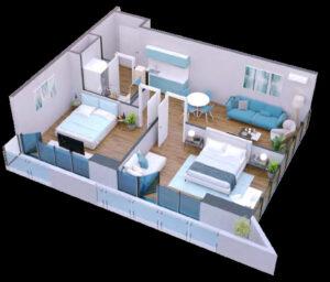 apartament 73m2
